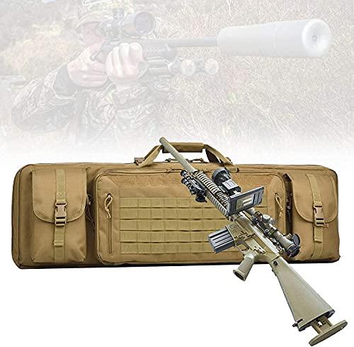 NKTJFUR Funda de Rifle táctico, Airsoft Case con protección de separación Central, Gran Capacidad, Resistente a los arañazos, Bolsa de Caza multifunción para Disparar el Transporte de Armas de Fuego,