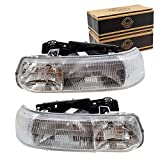 Aftermarket Replacement Driver and Passenger Side Halogen Combination Headlight...