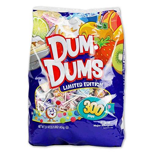 Spangler Dum Dums Lollipops Candy Limited Edition Flavors 300 Pops 51 Oz Bag  PACK OF 2