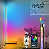 Plunack Lámpara de Pie 156cm, Lámpara de Pie Led Regulable RGB Con Mando a Distancia y APP, Lámparas de Pie Modernas Lámpara de Esquina, Utilizada en La Sala de Estar, el Estudio y El dormitorio