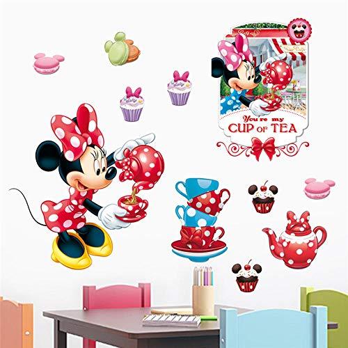 WSMSP 3D DIY PVC muurstickers U bent mijn beker van thee muurstickers slaapkamer Home Decor Disney muurschildering kunst Posters geschenken