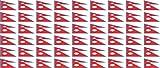 Mini Aufkleber Set - Pack glatt - 20x12mm - Sticker - Nepal - Flagge - Banner - Standarte fürs Auto, Büro, zu Hause & die Schule - 54 Stück
