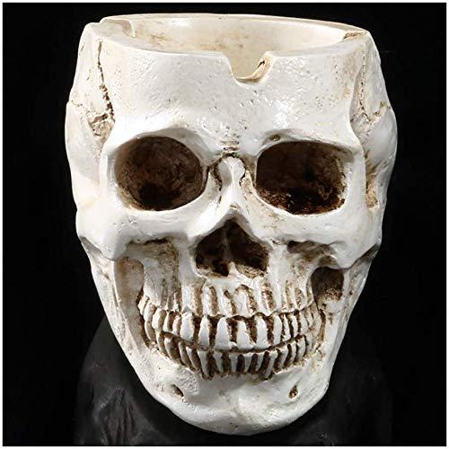 AMITD - Cenicero de Resina, cráneo, cráneo, exhibición, decoración, Halloween, decoración, Fumador, cenicero para Accesorios de Bar