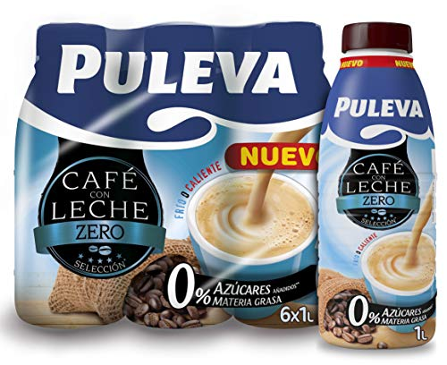 Puleva Café con Leche Zero Sin Azúcar pack 6x1L