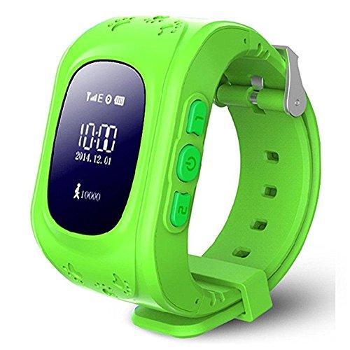 Kids Smart Watch, HALOFUN Q50 Wrist Watch with Anti-Lost GPS Tracker SOS Call Location Finder SIM Card Slot Remote Monitor Pedometer Smart Watch for Kids (Green)