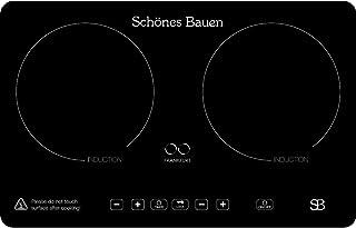 Schönes Bauen Parrilla de Inducción 2 Quemadores Estufa Empotrable Estufa Inducción 2 Zonas Frankfurt 110/120 V 32 pulgadas