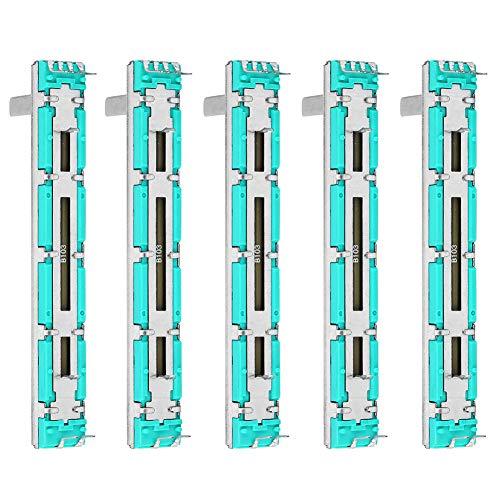5-teiliges Schieberpotentiometer B10K Zweikanal-Geradeausschieber-Mischfader für mehrere Zwecke B10K-Potentiometer
