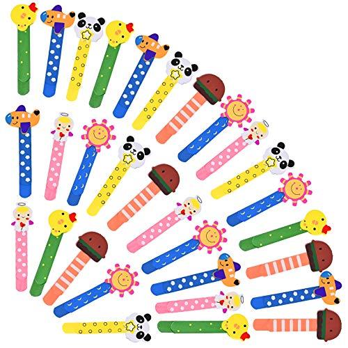 Animali Segnalibro Coloratissimi 30 pezzi, Fumetto Colorati Carini Divertenti Bambini in Legno Idea con un Piccolo Metro, Legno Regalino Festa Compleanno Bambini per Bomboniera Battesimo Natale