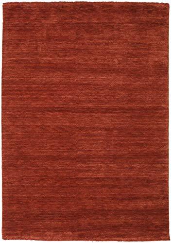 CarpetVista Alfombra Handloom Fringes - Deep_Rust 160x230 Alfombra Moderna