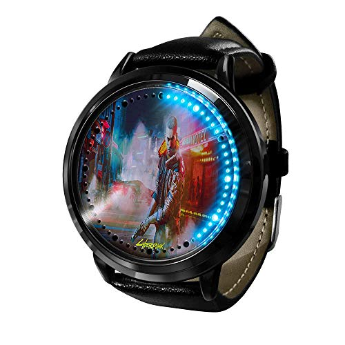 Cyberpunk Series Reloj Reloj para Hombre Cuarzo Casual Fashion LED Anime Resistente al Agua Watches de Pulsera con luz Digital Unisex Cosplay B