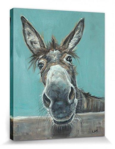 1art1 Esel - NA Hallo Erstmal, Louise Brown Bilder Leinwand-Bild Auf Keilrahmen | XXL-Wandbild Poster Kunstdruck Als Leinwandbild 50 x 40 cm