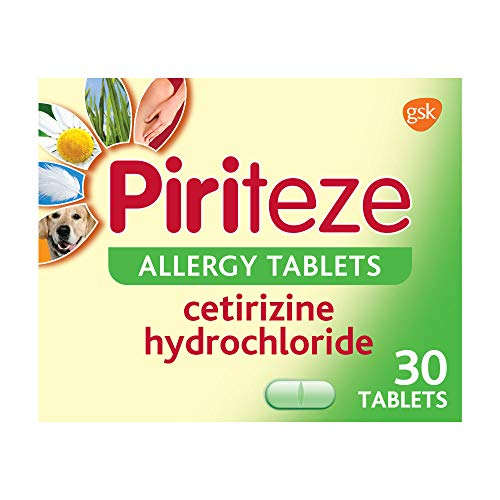 Piriteze Antihistamine Allergy Relief Tablets, Cetirizine, Hay fever tablets - Pack of 30