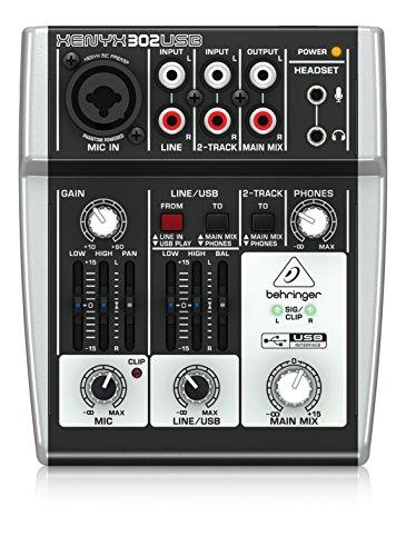 Behringer Xenyx 302 USB-Mischpult für Liveauftritte, Karaoke, im Studio usw.