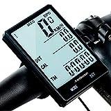 Redlemon Velocímetro Digital y Computadora para Bicicleta, a Prueba de Agua (IPX6), con Pantalla LCD Retroiluminada y Funciones como Odómetro, Calorías, Tiempo, Medidor de Distancia y Temperatura