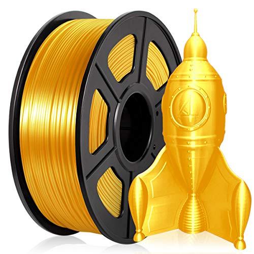PLA Silk Filament 1.75mm, PLA Filament Silk Gold, Enotepad PLA Filament 1KG(2.2LBS) Spool, PLA Silky Light Gold