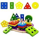 Giocattolo di Legno per Bambini, Montessori Giocattoli Legno, Giochi Educativi per Bambini...