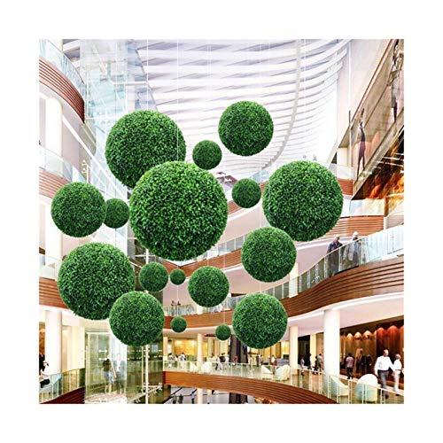 ADosdnn Künstliche Garten Green Grass-Ball Topiary Hängen Garland Startseite Yard Hochzeit Dekorationen Plant-Ornament (Size : 40cm)
