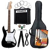 [page_title]-Rocktile Banger's Pack Komplettset E-Gitarre Schwarz (Verstärker, Tremolo, Tasche, Kabel, Gurt, Plecs, Ersatzsaiten und Schule mit CD/DVD)