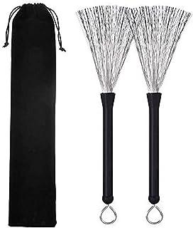 Drum Brushes Wire Retractable 1 Pair - Drum Brushes Set...