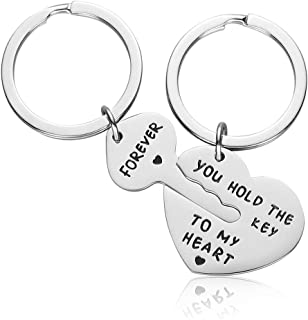 Couple Gifts for Boyfriend and Girlfriend - You Hold The Key to My Heart Couple Keychain for Him and Her, Valentine's Day Birthday Gifts for Boyfriend Girlfriend, His and Her Gifts