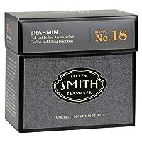 Smith Teamaker ブラックティー - ブラフミン - 6個入りケース - 15袋 - グルテンフリー - 乳児不使用 - ヨーストフリー - ウィートフリー - ビーガン