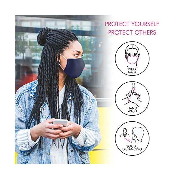 Corona Virus protection products Atalpha Womens Face Mask (2 Pack) Breathable & Effecctive + Bonus Storage Bag