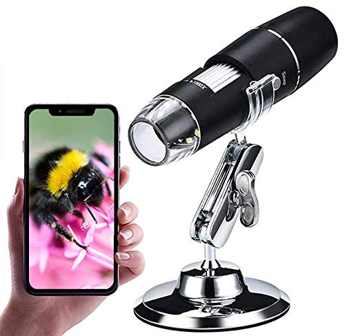 Wireless Digital Microscope,XVZ 0X to 1000x Microscope Magnifier,Mini Pocket Handheld Microscope Camera with Light Compatible for iPhone Android,ipad
