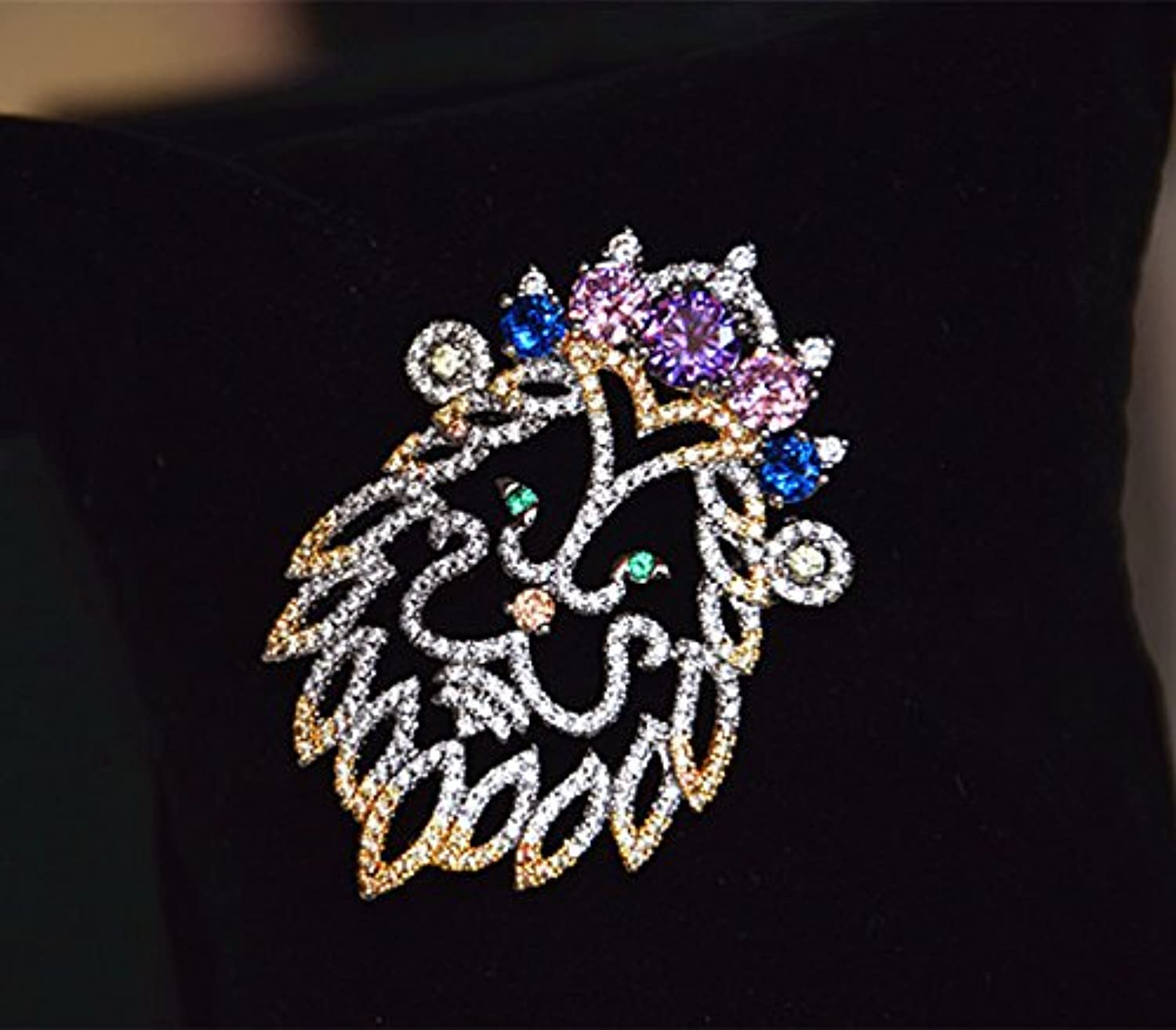 Palace Retro Luxury Micro Pave Zircon color Animal Brooch pin Badge pin Brooch pin Badge Clothing Accessories Gifts Gift