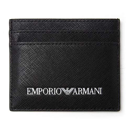 Emporio Armani hombre fundas para tarjetas de visita nero