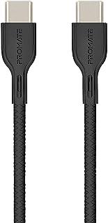 كابل بروميت USB-C الى USB-C ، بريميوم 60 واط شحن يو اس بي من النوع C إلى C 3A كابل شحن ومزامنة مع 2 متر سلك خالي من التشاب...