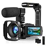 Video Camera Camcorder with Microphone 2.7K HD...
