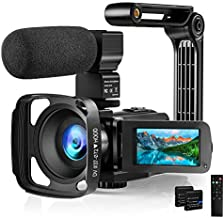 Video Camera Camcorder with Microphone 2.7K HD 36MP/30FPS YouTube Vlogging Camera IR Night Vision 16X Digital Zoom Digital Recorder with 3.0