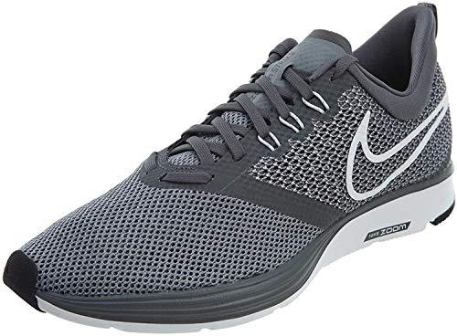 Nike Zoom Strike, Scarpe da corsa Uomo, Grigio (Dark Grey/White/Stealth/Black 002), 48.5 EU