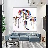 CDERFV Abstrakte Frauen Yoga Leinwanddruck Malerei Tanzen