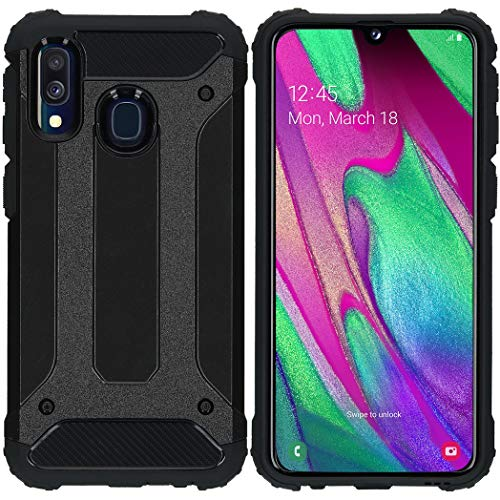 iMoshion kompatibel mit Samsung Galaxy A40 Hülle – Rugged Xtreme Back Cover Schutzhülle – Hard Case Handyhülle in Schwarz [Stoßabsorbierend, Dual-Layer Design]