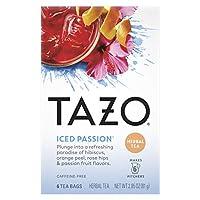 Tazo Teas Herbal Tea Iced Passion Caffeine-Free 6 Tea Bags 2 85 oz 81 g