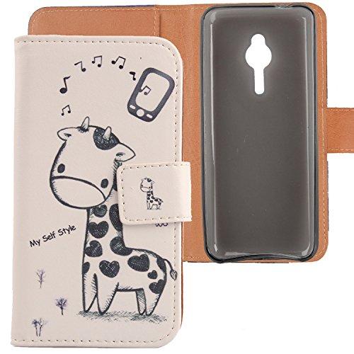 Lankashi PU Flip Leder Tasche Hülle Case Cover Schutz Handy Etui Skin Für Nokia lumia 230 2.8