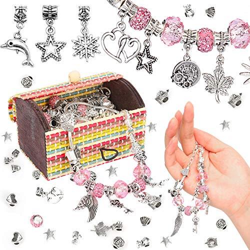 Sinwind Regali per Ragazze – Set di braccialetti fai da te, calendario dell'Avvento da regalo con charm, kit fai da te per bambini, regali di Natale per bambine 4 – 12 anni