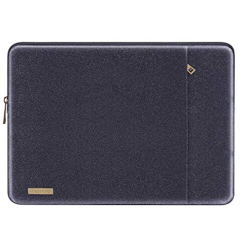 MOSISO Laptop Sleeve Compatible with 13-13.3 Inch MacBook Air/MacBook Pro Retina/2016-2019 MacBook Pro USB-C/Surface Book, PU Leather Vertical Style Super Padded Bag Waterproof Case,Shining Space Gray