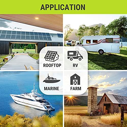 Newpowa 180W(Watt) Solar Panel12V Monocrystalline High Efficiency PV Module Off Grid for RV Trailer Camper Roof Top