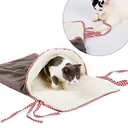 Petneces Kat Bed Kat Slaapbed Zachte Huisdier Sofa Kussen Warm Huisdier Slaapzak voor Kooi Winter Kat Speelgoed