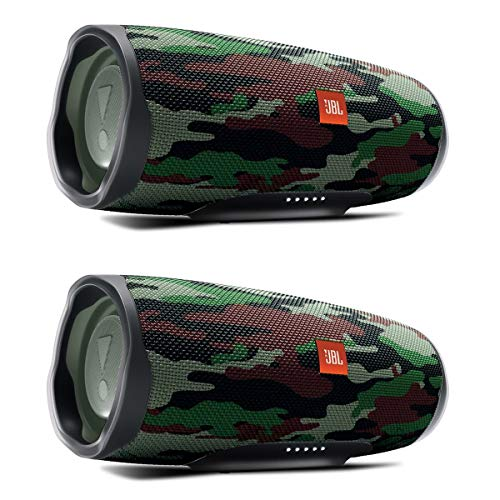 Best Review Of JBL Charge 4 Waterproof Portable Wireless Bluetooth Speaker Bundle - Pair (Camouflage...