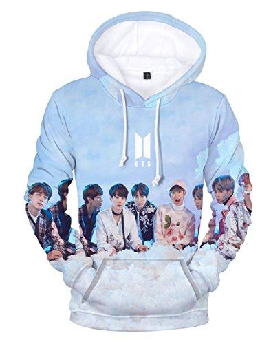 SIMYJOY Unisexe Korea Pop Fans Sweat à Capuche Imprimé 3D Pull Cool Kpop Portrait Sweat-Shirts K-Pop K-Pop K-Pop K-Pop pour Homme Femme Adolescent C XS