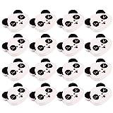 PRETYZOOM - Botones de panda de banda para coser, clips de botones de madera, bricolaje, accesorios de costura, 100 piezas (estilo 2)