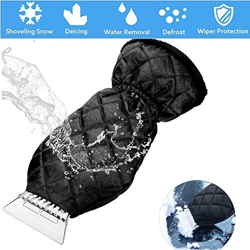 Why Should You Buy M-TOP Ice Scraper Mitt for Car Windshield, Magical Ice Car Scraper with Glove,Windscreen Snow Ice Scraper with Glove Waterproof Warming Elastic Wristband Windshield Scraper
