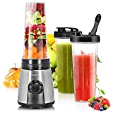 Licuadora personal de 600 ml, taza exprimidora portátil / licuadora de frutas eléctrica recargable / licuadora de jugo...