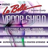 La Bella VSE942 Vapor Shield Electric Guitar Strings, Extra Light, 9-42