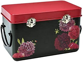 Burgon & Ball Seed Packet Storage Tin in RHS British Bloom Design | Seed Box with Peonies & Dahlias