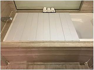 バスタブボードバスタブカバー防塵折りたたみダストボードバスタブ絶縁カバーPVCバスルームトレイ(サイズ:106750.65cm)