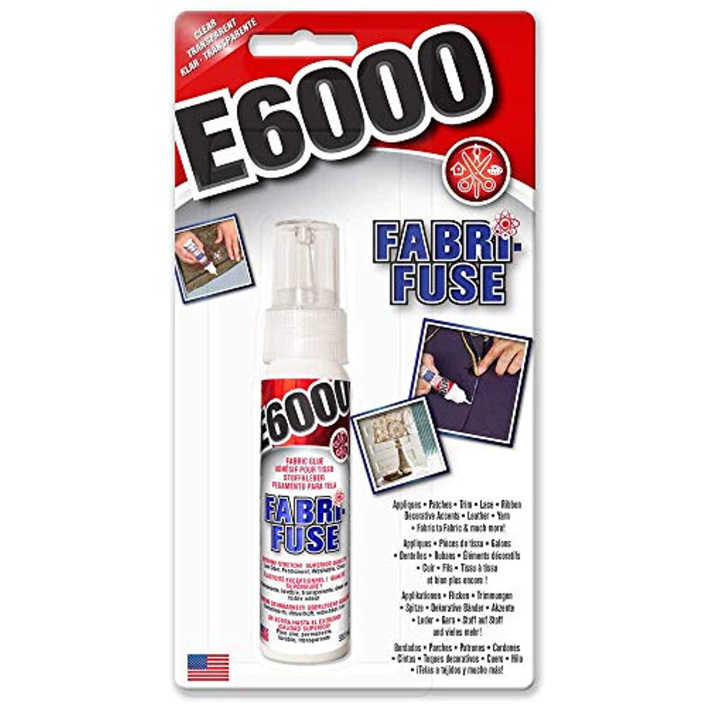 Eclectic E6000 Fabri Fuse Adhesive Glue Bonds Fabric